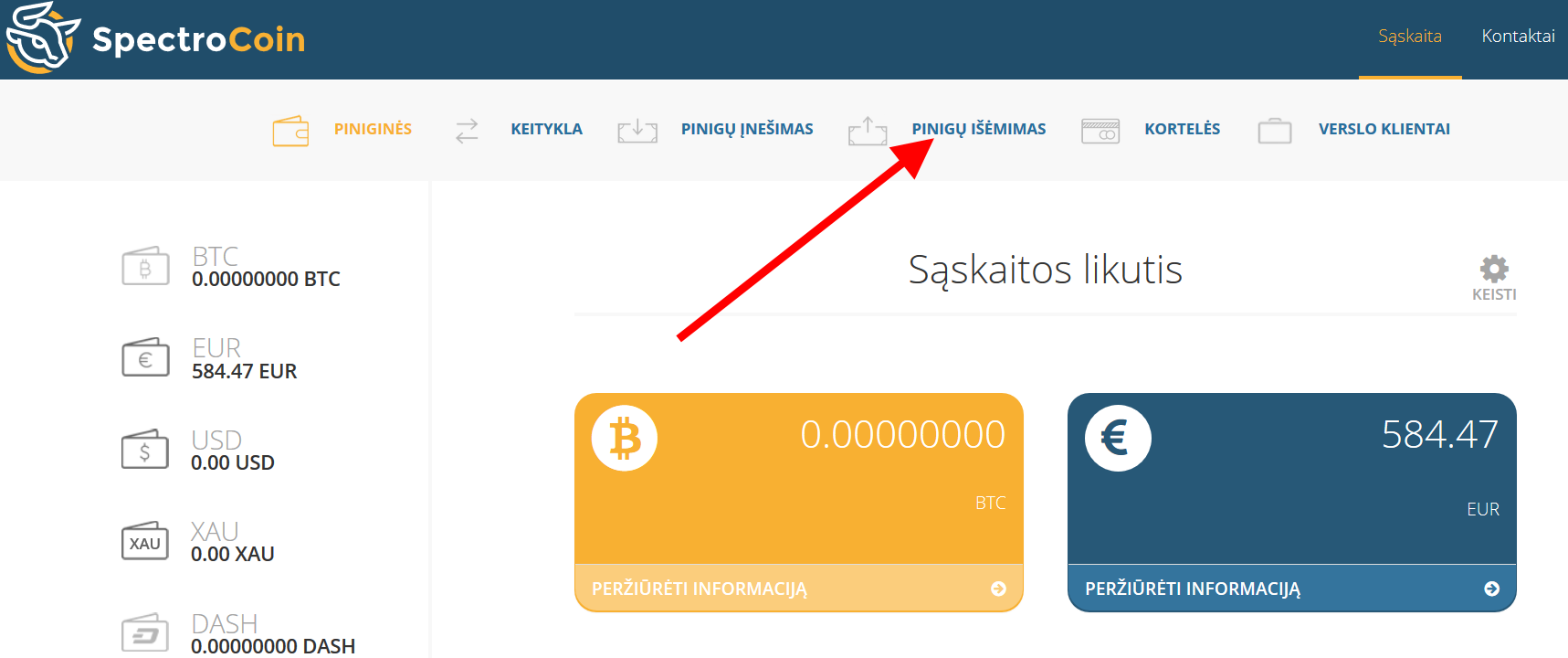 kaip atsiimti bitcoin į banko sąskaitą